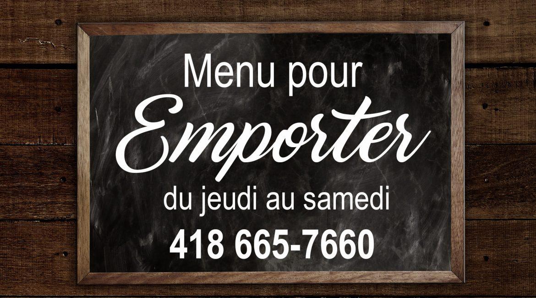 Votre Bistro… Vos plats pour emporter